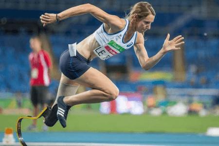 Marie-Amélie Le Fur en train de courrir